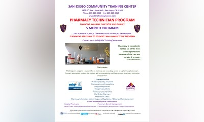 A Financing Option to Attend the Pharmacy Technician Program by SDCTC