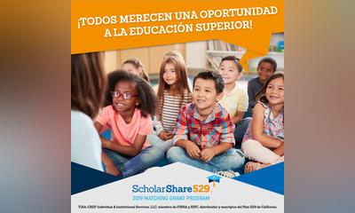 Programa de Subvenciones Compartidas 2019 de ScholarShare 529