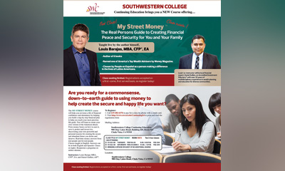 Louis Barajas, named one of America's Top Wealth Advisors by Money Magazine Coming to Southwestern College Continuing Education